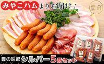 【みやこハムよりお届け!】豊の味都 シルバー5品セット(T300)