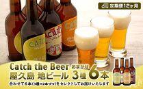 【定期便12ヶ月】屋久島・地ビールCatchtheBeerおまかせビール3種6本セット