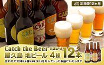 【定期便12ヶ月】屋久島・地ビールCatchtheBeerおまかせビール4種12本セット