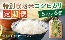 【定期便】あわら市産コシヒカリ特別栽培米(5kg✕6回)