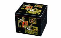 三段重箱黒内朱吉兆鶴お重紀州漆器