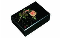 合口文庫黒紀の花A4判紀州漆器