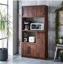 【開梱設置】食器棚レンジ台キッチンボード令和幅83ウォールナット