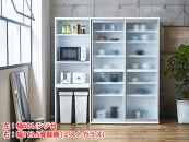 【開梱設置】キッチンボードレンジ台ポエム幅60ホワイト食器棚家具