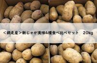 【数量限定】<網走産>新じゃが美味4種食べ比べセット 20kg