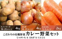 【先行予約】こだわりの有機野菜 カレー野菜セット!じゃがいも4kg・玉ねぎ4kg・にんじん2kg(9月下旬より順次発送)