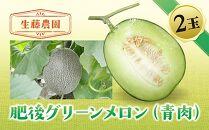 【先行予約】肥後グリーンメロン(青肉)