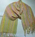 ながくて織姫ガラ紡糸の手織りショール①