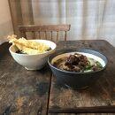 【アイボリー&アイアンブラック】 麺鉢ペア