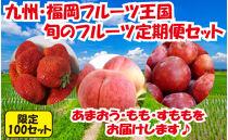 九州・福岡フルーツ王国八女 旬のフルーツ定期便【全3回】C【2022年1月以降発送予定】