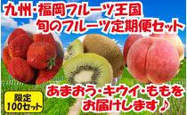 九州・福岡フルーツ王国八女 旬のフルーツ定期便【全3回】D