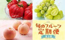九州・福岡フルーツ王国八女 旬のフルーツ定期便【全3回】F