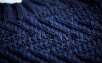 ≪ネイビー≫【気仙沼ニッティング】手編みセーター「エチュード」Sサイズ(女性標準サイズ)