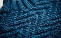 ≪冬の海≫【気仙沼ニッティング】手編みセーター「エチュード」Mサイズ(男性標準サイズ)