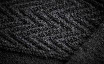 ≪チャコールグレー≫【気仙沼ニッティング】手編みセーター「エチュード」Mサイズ(男性標準サイズ)