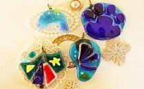 星砂をガラスに閉じ込めて、オリジナルのガラスアクセササリー作り沖縄ガラス星砂体験 【3名様】