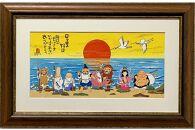 岡本肇絵画『七福神‐日々是好日』縁起物シリーズ