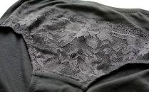 《絹生活研究所》シルク加工ショーツ3色セット(レディースLLサイズ)