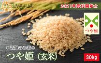 2021年受付開始☆話題のお米 つや姫(玄米)30Kg