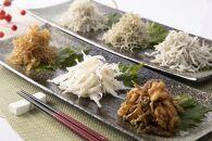 「魚匠鈴栄の極上シリーズ 伝統の白魚・ちりめん・創作佃煮詰合せ ①ちょこちょこいっぱいお茶のみセット」