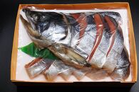 村上名産塩引き鮭 半身姿