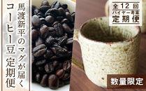 【定期便☆数量限定!】馬渡新平のマグが届く!コーヒー豆定期便☆全12回