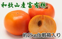 【先行予約・2021年11月上旬~発送】【厳選・産直】和歌山産の富有柿3L・4Lサイズ約2kg(化粧箱入り)