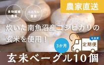 <頒布会>玄米ベーグル10個【冷凍】×3か月栄養豊富・毎朝の習慣に_BR