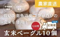 <頒布会>玄米ベーグル10個【冷凍】×12か月栄養豊富・毎朝の習慣に_BR