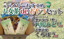 バイヤーおすすめ八女茶deおやつセット(銘菓黒棒と八女茶のセット)