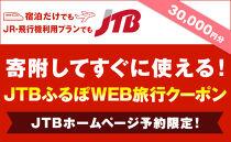 【高槻市】JTBふるぽWEB旅行クーポン(30,000円分)