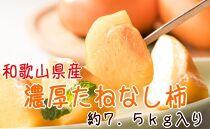 【紀の川特産品】濃厚たねなし柿 秀品 32~40玉入り(約7.5kg)