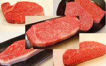 [全5回ステーキ頒布会/配送日時指定可]伊予牛絹の味(A4、A5クラス)ステーキ堪能コース(冷蔵)