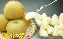 ☆8月発送予約受付☆〈香川産〉あふれる果汁タップリのあま~い【梨4kg】詰め合わせ
