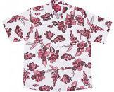 紅型魚ハイビー「メンズ:オフレッド_Mサイズ」(オープンシャツ)