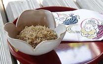 鉢の木「自家製ちりめん山椒230g、鉢の木オリジナル布巾付」