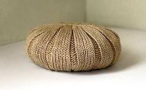 ジンバブエコットンのふんわりニットベレー帽(ベージュ)