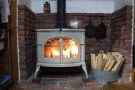 (40cm)薪ストーブに最適!しっかり暖かい「カシ・クヌギ」乾燥薪 24kg×3セット