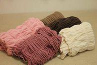 綿モダール のびふわストレッチブランケット(ダークブラウン)