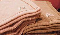 綿ウール ブランケット(アッシュブラウン)