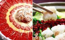 島の食文化!鯨お刺身皿盛りとあごだし仕立て国産牛もつ鍋&〆の五島うどんセット