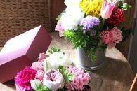 年4回届くアレンジメント「SWEET」可愛い花のある生活