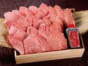 常陸牛A5焼肉用霜降りもも厚切り肉510g