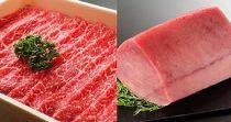 お子様大満足セット! 豊後牛A4ランク以上モモスライス(すき焼き・しゃぶしゃぶ用)&国産天然マグロの赤身セット 急速冷凍して新鮮なままお届けします