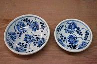 ★受付再開★藍山窯(あいざんがま)五寸と六寸の葡萄絵鉢