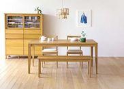 プレーンダイニングテーブル[単品]140cmホワイトオーク