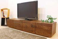 風雅/FUUGA TYPE2テレビボード W2000(ウォルナット‐スリット)