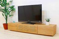風雅テレビボードテレビ台W1800ブラックチェリースリット