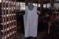 明治末期より現役の織機で織り上げられた「若柳地織」 割烹エプロン