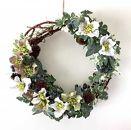 美流渡の森アーティフィシャルフラワー&ぶどうの蔓のリース(クリスマスローズ)